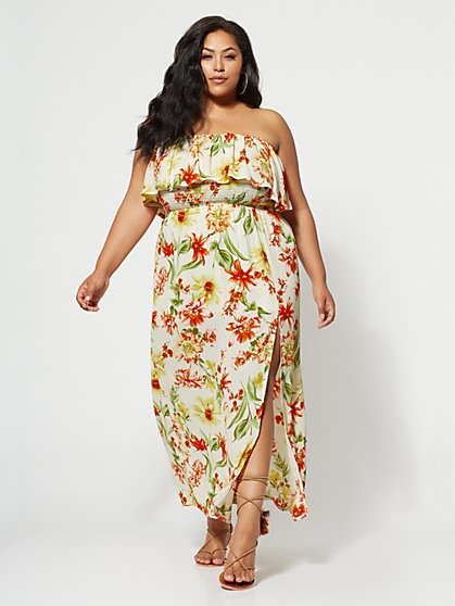 Plus Size Hilary Off-Shoulder Maxi Dress - Fashion To Figure
