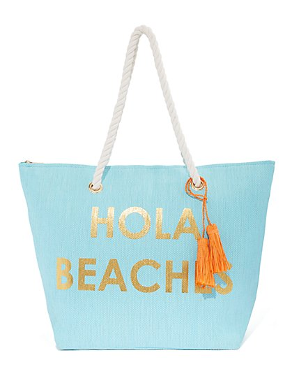 Plus Size Hola Beaches Tote Bag - Fashion To Figure