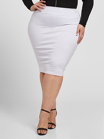 Plus Size Holly Pencil Skirt - Fashion To Figure