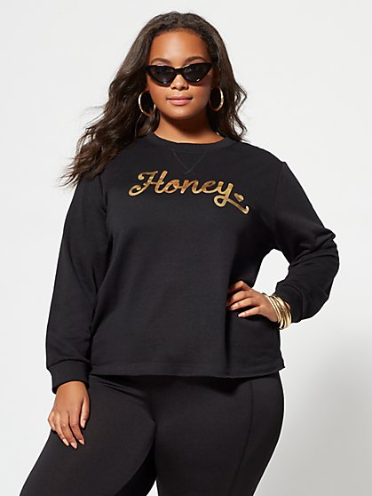 Plus Size Honey Gold Sweatshirt - Fashion To Figure