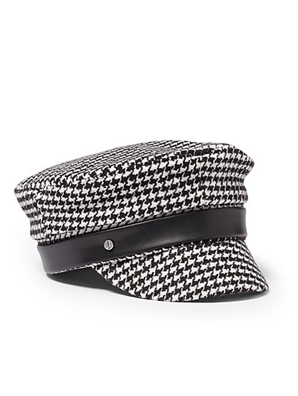 Plus Size Houndstooth Cabbie Hat - Fashion To Figure