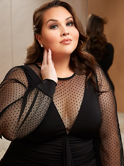 Plus Size How Cute Are We - LBD - Fashion To Figure