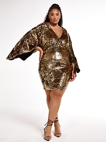 Plus Size I'm Funny, How Sequin Dress - SRV x FTF - Fashion To Figure