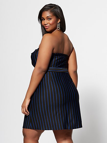 bb9516bc03abb ... Plus Size Ibbie Strapless Stripe Dress - Fashion To Figure ...
