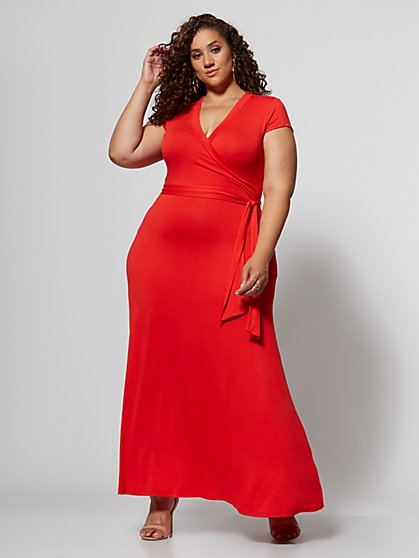 Plus Size Idalia Wrap Maxi Dress - Fashion To Figure