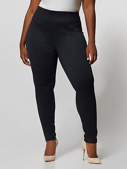 Plus Size Indigo Ponte Pants - Fashion To Figure