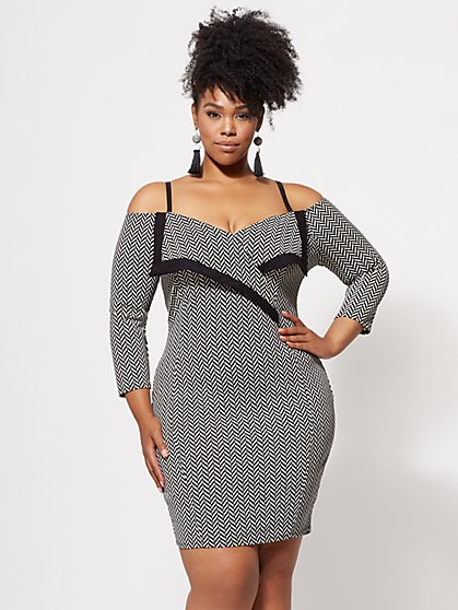 Plus Size Jackie Bodycon Dress - Fashion To Figure