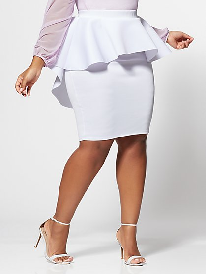 Plus Size Jacqueline Drama Pencil Skirt - Fashion To Figure