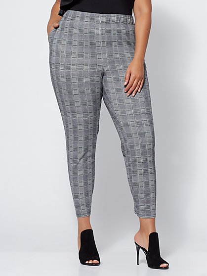 Plus Size Janie Plaid Jogger Pants - Fashion To Figure