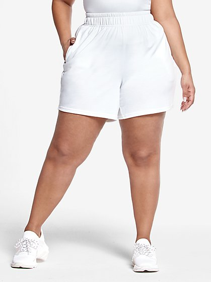 Plus Size Janine French Terry Shorts - Fashion To Figure