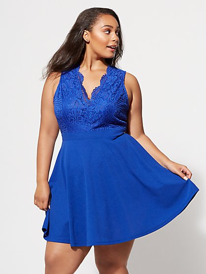 Plus Size Jennie Flare Dress - Fashion To Figure