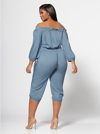 d8d2c4b38f486 ... Plus Size Jenny Off-Shoulder Utility Jumpsuit - Fashion To Figure ...