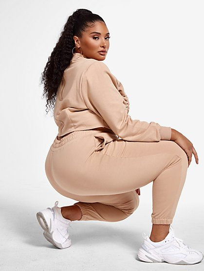 Plus Size Jessa French Terry Joggers - Fashion To Figure