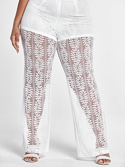 Plus Size Johanna Lace Pants - Fashion To Figure