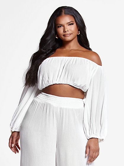 Plus Size Josie Off The Shoulder Top - Fashion To Figure