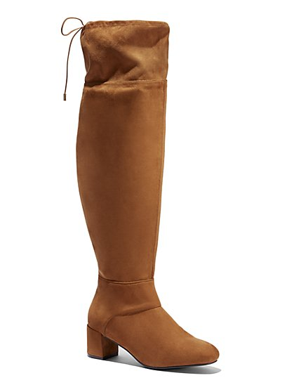 Plus Size Jourdan Over-The-Knee Suede Boots - Wide Width - Fashion To Figure