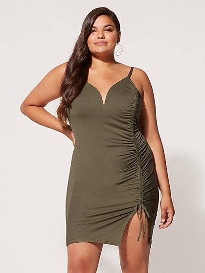 Plus Size Juana Ruched Bodycon Dress - Fashion To Figure