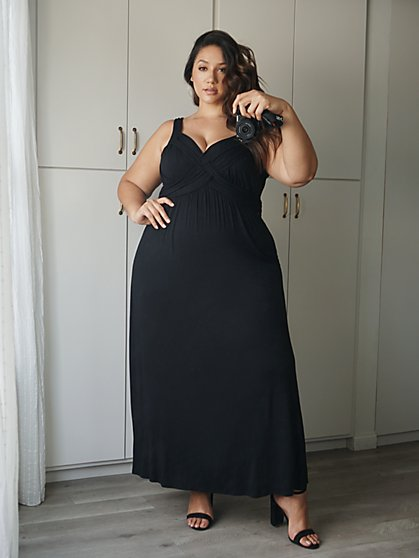 Plus Size Julia Goddess Maxi Dress - Fashion To Figure