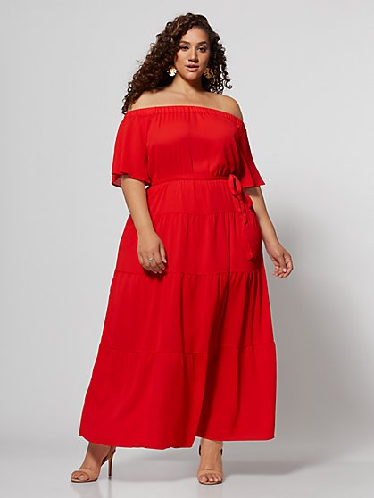 Plus Size Julia Off-Shoulder Maxi Dress - Fashion To Figure