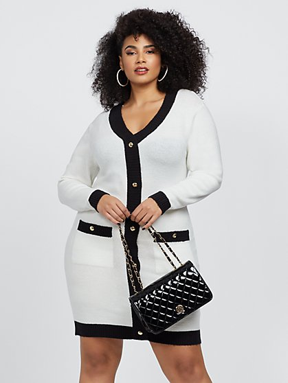 Plus Size Juliet Cardigan Sweater Dress - Fashion To Figure