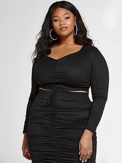 Plus Size Justine Drawstring Top - Fashion To Figure