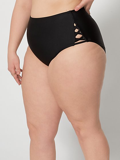 Plus Size Kacey Cut-Out Detail Bikini Bottom - Fashion To Figure
