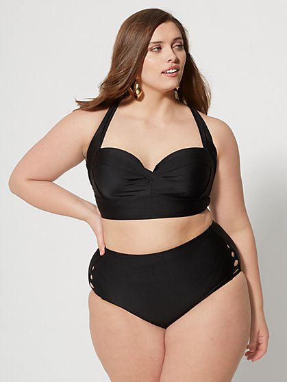 33e3fa06104 Plus Size Kacey Ruched Bikini Top - Fashion To Figure ...
