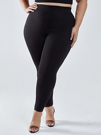 Plus Size Kali Seam Detail Pull-on Pants - Fashion To Figure
