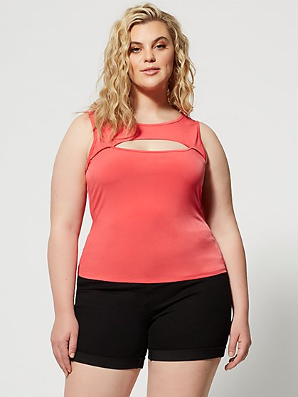 Plus Size Kalista Cut-Out Top - Fashion To Figure