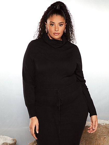 Plus Size Kalyna Corset Sweater Dress - Garnerstyle x FTF - Fashion To Figure