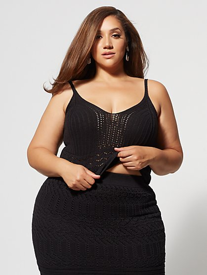 Plus Size Karenza Crochet Top - Fashion To Figure