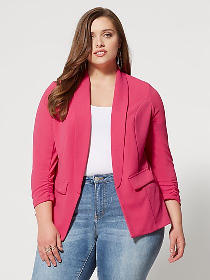 Plus Size Kari Boyfriend Blazer - Fashion To Figure