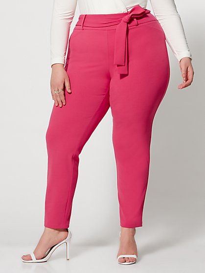 Plus Size Kari Tie Waist Skinny Pant - Fashion To Figure