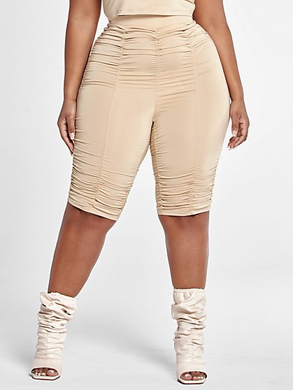 Plus Size Katie Ruched Bike Shorts - Fashion To Figure