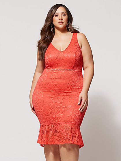 Plus Size Kaye Lace Bodycon Dress - Fashion To Figure