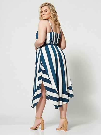 926f0b926 ... Plus Size Kayleigh Striped Belted Dress - Fashion To Figure ...