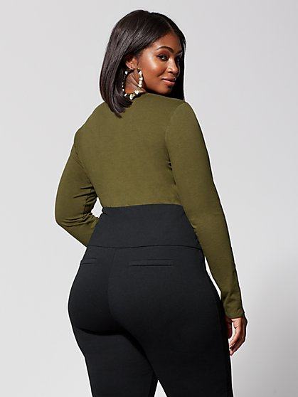 f539e457d5 ... Plus Size Keke Long Sleeve Bodysuit - Fashion To Figure