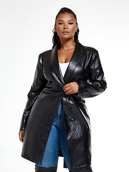 Plus Size Kiara Tie Waist Faux Leather Dress - Fashion To Figure