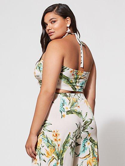 269ad60b244cf ... Plus Size Kiara Tropical Crop Top - Fashion To Figure ...