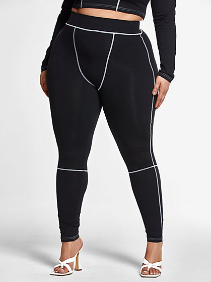 Plus Size Kiera Stitch Detail Leggings - Fashion To Figure