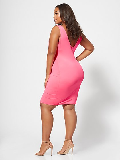 Plus Size Kiki Cut Out Accented Bodycon Dress Fashion To Figure