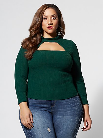 Plus Size Kimmy Cut-Out Top - Fashion To Figure