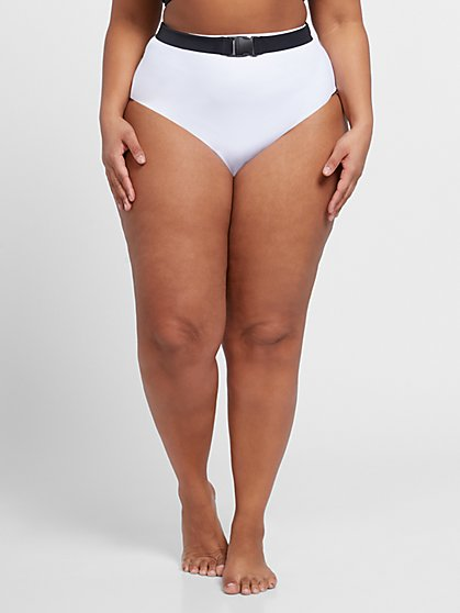 Plus Size Kylie Belted Bikini Bottom - Fashion To Figure