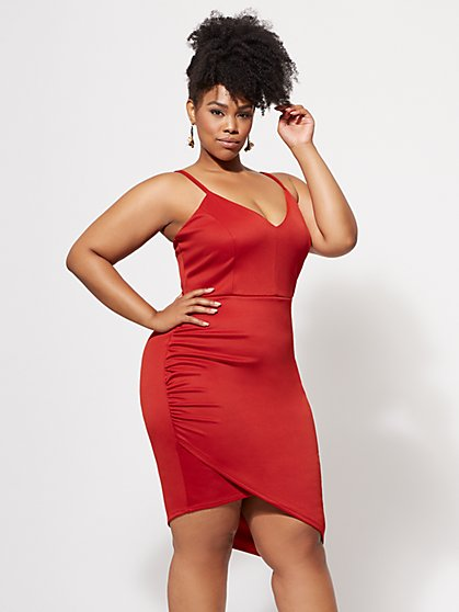 Plus Size Kylie Bodycon Dress - Fashion To Figure