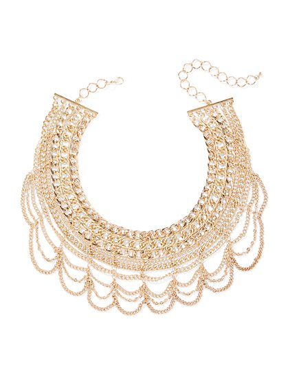 Plus Size Large Chain Statement Necklace - Fashion To Figure