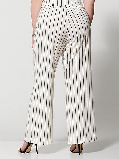 40ab43380f ... Plus Size Lea Striped Flare Pants - Fashion To Figure ...