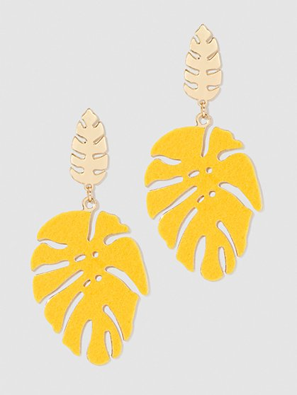 Plus Size Leaf Post Earrings - Fashion To Figure