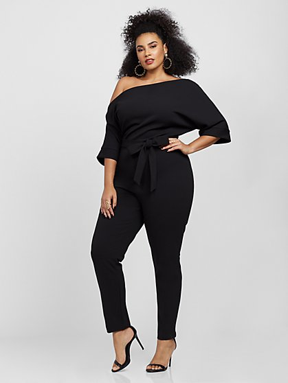 Plus Size Lealia Dolman Sleeve Jumpsuit - Fashion To Figure