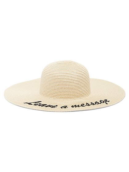 Plus Size Leave A Message Floppy Hat - Fashion To Figure