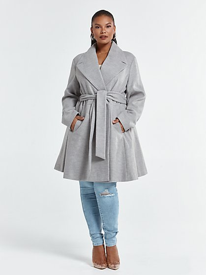 Plus Size Leia Belted Coat - Fashion To Figure